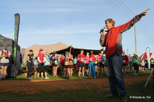 Fynbos Trail founder Sean Privett giving race instructions